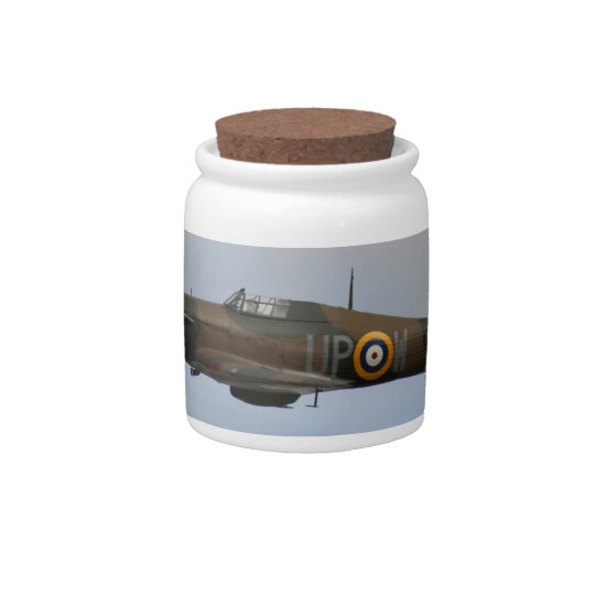 Hurricane Fighter aircraft WWII military plane Candy Jar