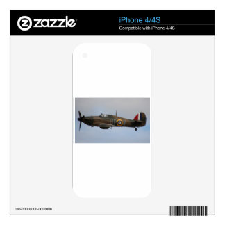Hurricane Fighter aircraft WWII military plane Skin For iPhone 4S