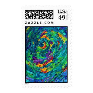Hurricane Fine Art Postage Stamp