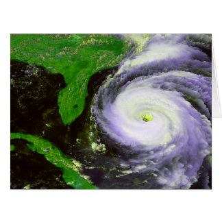 Hurricane Fran Off Florida - 1996 Satellite Image Card