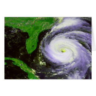 Hurricane Fran Off Florida - 1996 Satellite Image Greeting Card