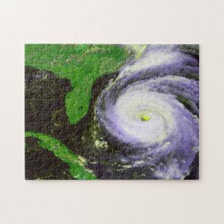Hurricane Fran Off Florida - 1996 Satellite Image Puzzle