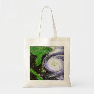 Hurricane Fran Off Florida - 1996 Satellite Image Tote Bag