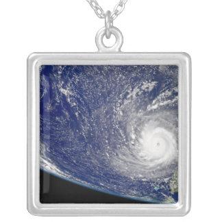 Hurricane Frances 2 Square Pendant Necklace
