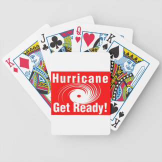 Hurricane! Get Ready! Bicycle Playing Cards