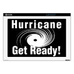 """Hurricane! Get Ready! Products 17"""" Laptop Skins"""