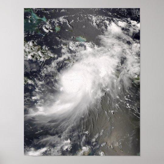 Hurricane Gustav over Hispaniola Poster