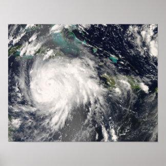 Hurricane Gustav over Jamaica Poster