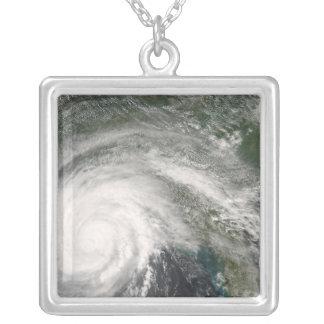 Hurricane Gustav over Louisiana Silver Plated Necklace