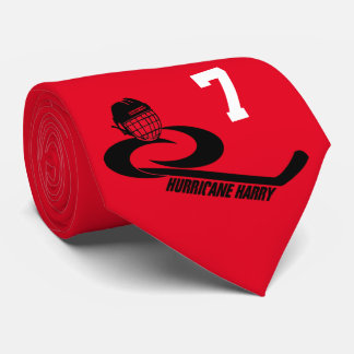 Hurricane HARRY Customizable Youth Team Hockey Tie
