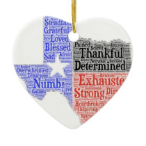 Hurricane Harvey Word Cloud Ceramic Ornament