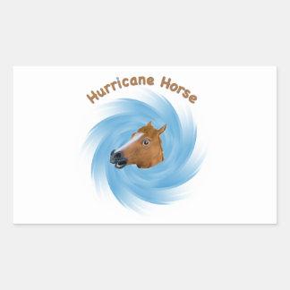Hurricane Horse Rectangle Sticker