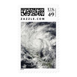 Hurricane Ida over Nicaragua Stamps