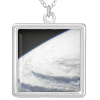 Hurricane Ike 2 Silver Plated Necklace