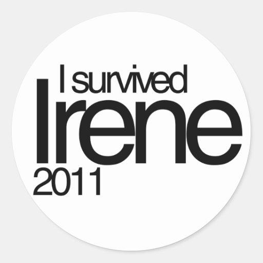 Hurricane Irene 2011 Stickers