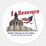 Hurricane Irene and East Coast Quake... Sticker