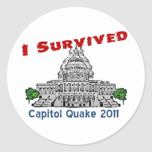 Hurricane Irene and East Coast Quake... Stickers