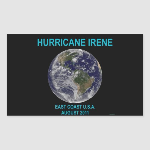 Hurricane Irene, August 2011, East Coast USA Sticker