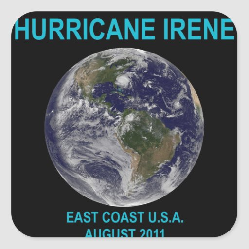 Hurricane Irene, August 2011, East Coast USA Round Sticker