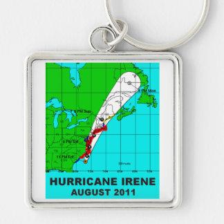 Hurricane Irene, August 2011 Track Keychain