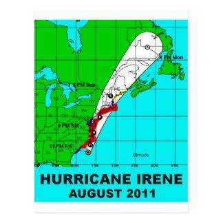 Hurricane Irene, August 2011 Track Postcard
