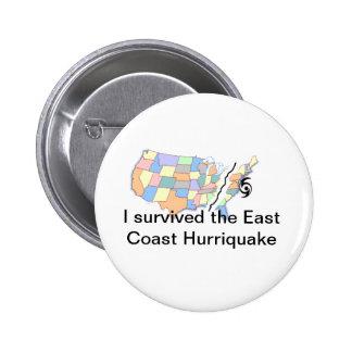 Hurricane Irene Pinback Button