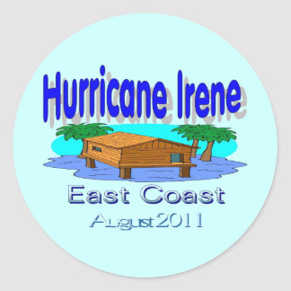 Hurricane Irene East Coast Collection Classic Round Sticker