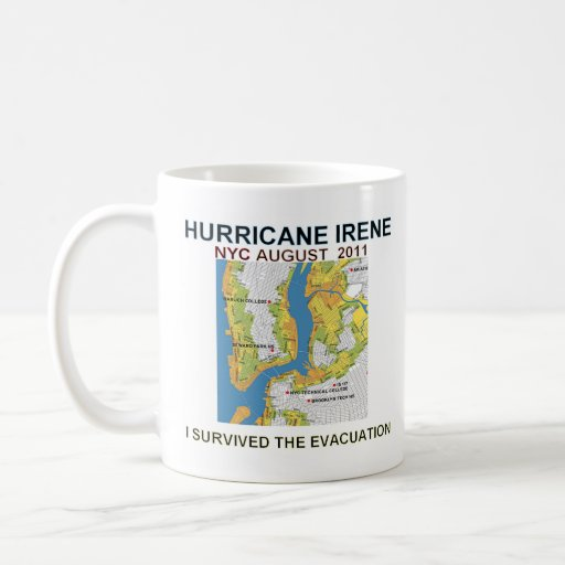 Hurricane Irene Evacuation NYC Mug