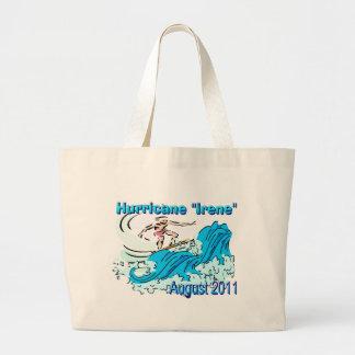 Hurricane Irene Jumbo Tote Canvas Bag