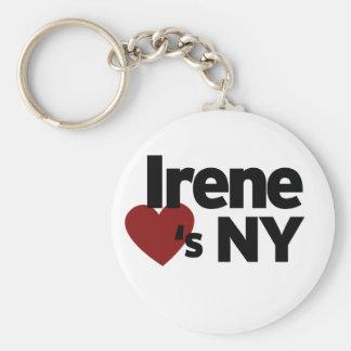 Hurricane Irene loves NY Basic Round Button Keychain