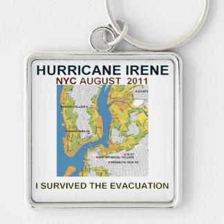 Hurricane Irene New York City Evacuation Map Poste Keychain