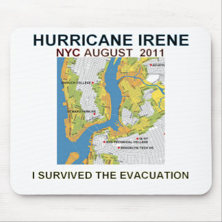 Hurricane Irene New York City Evacuation Map Poste Mouse Pad