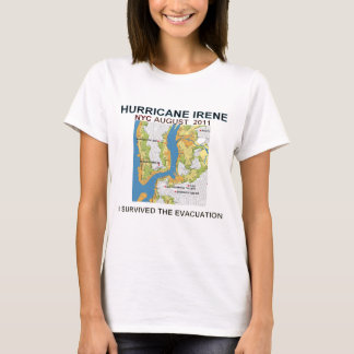 Hurricane Irene New York City Evacuation Map Poste T-Shirt