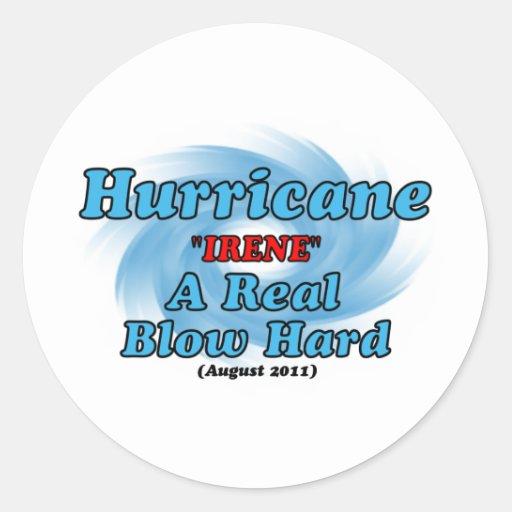 """Hurricane """"IRENE"""" Round Stickers"""