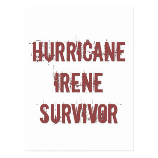 Hurricane Irene Surivor Postcard
