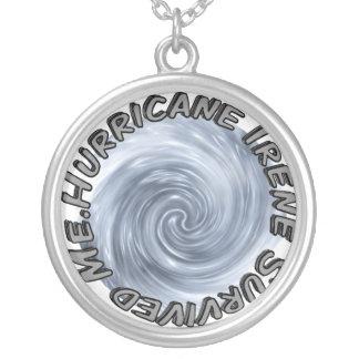 Hurricane Irene Survived Me Round Pendant Necklace