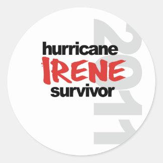 Hurricane Irene Survivor 2011 Classic Round Sticker