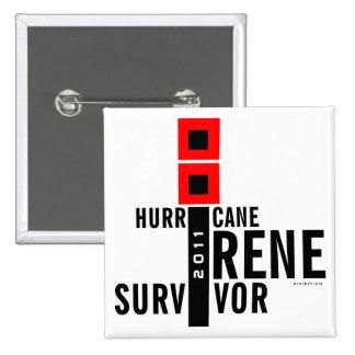 Hurricane Irene Survivor 2011 Flag Button