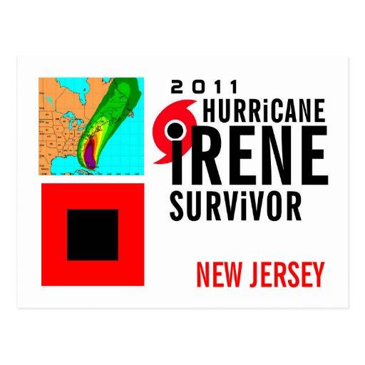 Hurricane Irene Survivor New Jersey Postcard
