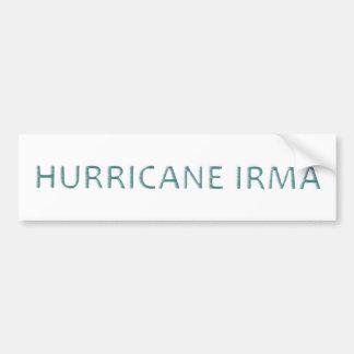 Hurricane Irma Wind Blown Bumper Sticker Decal