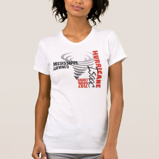 Hurricane Isaac Mississippi Survived T-shirt