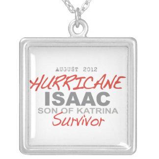 Hurricane Isaac Survivor Square Pendant Necklace