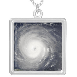 Hurricane Isabel Square Pendant Necklace