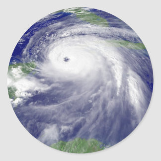 Hurricane Ivan in the Gulf of Mexico Classic Round Sticker