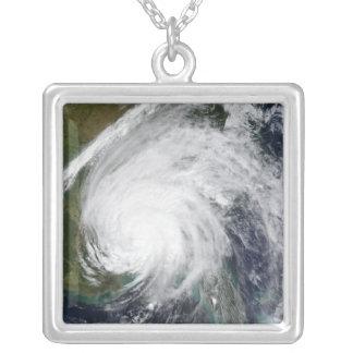 Hurricane Ivan Square Pendant Necklace