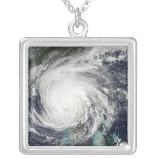 Hurricane Jeanne Square Pendant Necklace