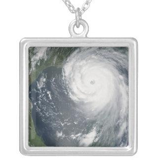 Hurricane Katrina 2 Square Pendant Necklace