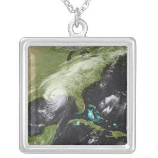 Hurricane Katrina 4 Silver Plated Necklace