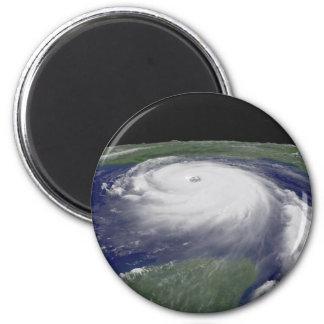 Hurricane Katrina Satellite image 2 Inch Round Magnet