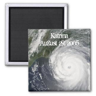Hurricane Katrina, Satellite Image 2 Inch Square Magnet